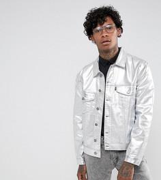 Джинсовая куртка с серебристым покрытием Jaded London - Серый