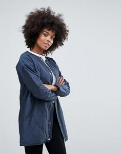 Стеганое пальто Vila - Темно-синий