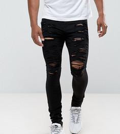 Черные супероблегающие джинсы с рваной отделкой Jaded London - Черный