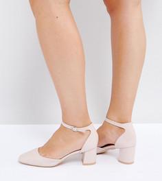 Светло-розовые лакированные туфли на каблуке для широкой стопы Lost Ink - Розовый