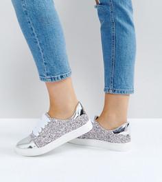 Блестящие кроссовки для широкой стопы Lost Ink - Мульти