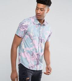 Рубашка классического кроя с принтом ASOS TALL - Розовый