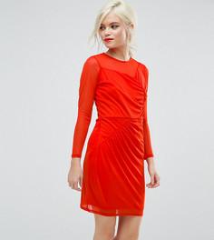 Платье мини с присборенной драпировкой ASOS PETITE - Красный