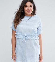 Платье в полоску с присборенной талией Missguided Plus - Мульти