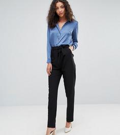 Тканые брюки галифе с поясом оби ASOS TALL - Черный