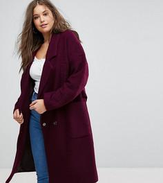 Оверсайз-пальто ASOS CURVE - Фиолетовый