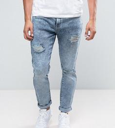 Голубые джинсы скинни с рваной отделкой Brooklyn Supply Co - Синий