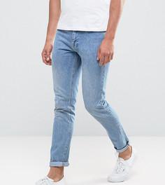 Выбеленные джинсы слим Brooklyn Supply Co - Синий