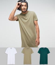 3 длинные футболки ASOS - СКИДКА - Мульти