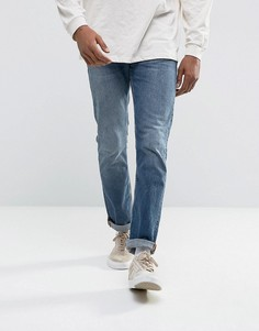 Синие джинсы слим Nudie Jeans Co Grim Tim - Синий