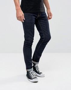 Супероблегающие джинсы из саржи Nudie Jeans Co - Темно-синий