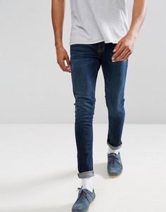 Темно-синие джинсы скинни Nudie Jeans Co Lin - Синий