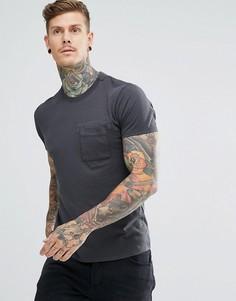 Футболка Nudie Jeans Co Anders Mended - Серый