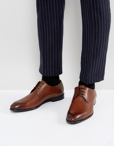 Светло-коричневые туфли дерби из телячьей кожи HUGO by Hugo Boss C-Dresios - Рыжий