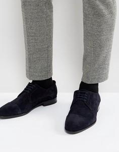 Темно-синие замшевые дерби на шнуровке HUGO by Hugo Boss Dressapp - Синий
