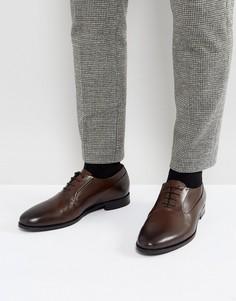 Коричневые оксфордские туфли с полированным носком HUGO by Hugo Boss Pathos - Коричневый