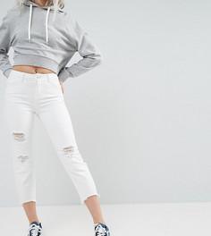 Укороченные джинсы с рваной отделкой Noisy May Petite - Белый