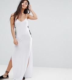 Платье-комбинация макси с люверсами Boohoo Petite - Белый