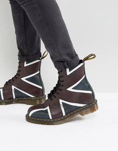 Ботинки с 8 парами люверсов Dr Martens Pascal Brit - Темно-синий