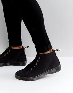 Ботинки из нубука с 6 парами люверсов Dr Martens - Черный