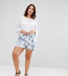 Юбка-шорты с цветочным принтом ASOS CURVE - Мульти
