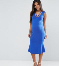 Платье миди с оборкой ASOS Maternity - Синий