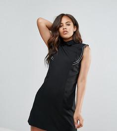 Платье-рубашка без рукавов с контрастными строчками Fashion Union Tall - Черный