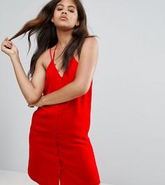 Платье на пуговицах Fashion Union Tall - Красный