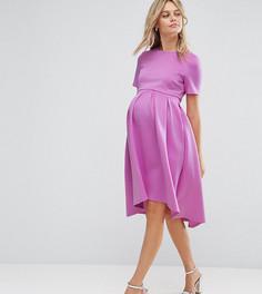 Платье с асимметричным краем ASOS Maternity NURSING - Розовый