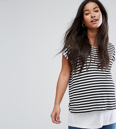 Футболка в полоску ASOS Maternity NURSING - Мульти