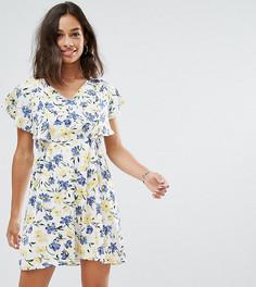 Платье с цветочным принтом Yumi Petite - Белый