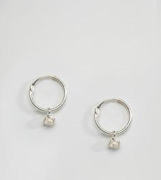 Серебряные серьги-кольца с узелками Kingsley Ryan - Серебряный