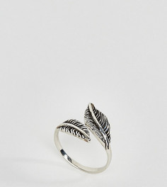 Серебряное кольцо с листиком Kingsley Ryan - Серебряный