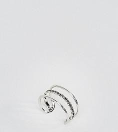 Серебряное кольцо на большой палец с тремя планками Kingsley Ryan - Серебряный