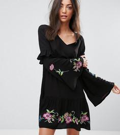 Свободное платье с вышивкой ASOS TALL ULTIMATE - Мульти