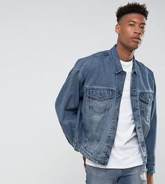 Выбеленная джинсовая оверсайз-куртка ASOS TALL - Синий