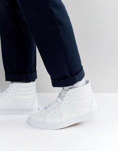 Белые кожаные высокие кроссовки Vans Sk8 VA2XSBODJ - Белый
