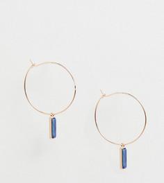 Серьги-кольца с подвесками Orelia - Золотой