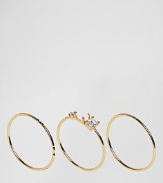 Набор колец с камнями Orelia - Золотой