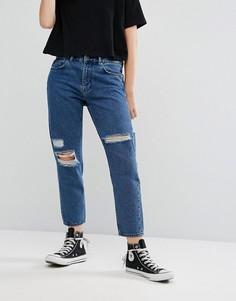 Рваные джинсы бойфренда Waven Aki - Синий