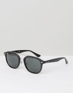 Вайфареры с серебристой двойной планкой Ray-Ban 0RB2183 - Черный