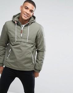 Легкая дутая куртка без застежки Solid - Зеленый