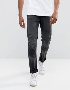 Узкие рваные джинсы с заплатами Only & Sons - Серый