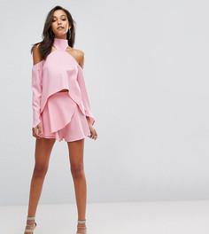 Юбка-шорты с запахом Parallel Lines - Розовый