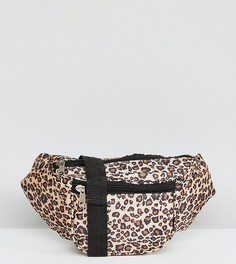 Сумка-кошелек на пояс с леопардовым принтом Reclaimed Vintage Inspired - Светло-серый
