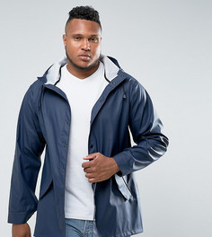Темно-синяя непромокаемая куртка ASOS PLUS - Темно-синий
