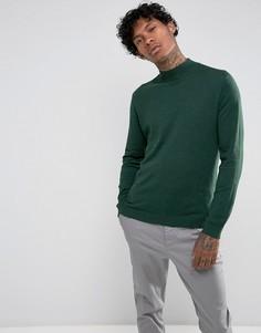 Зеленый хлопковый свитер ASOS - Зеленый