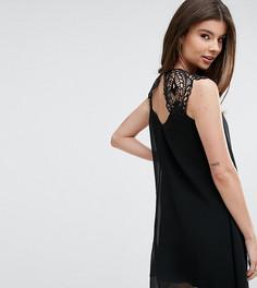 Свободное платье с кружевной отделкой Lipsy - Черный