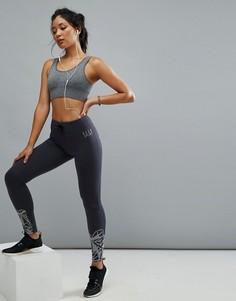 Спортивные леггинсы с графическим принтом Elle Sport - Черный