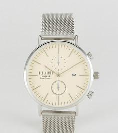 Серебристые часы с хронографом и сетчатым браслетом Reclaimed Vintage Inspired эксклюзивно для ASOS - Серебряный